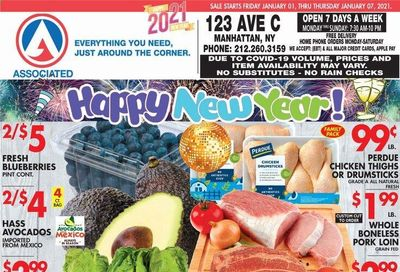 Associated Supermarkets Weekly Ad Flyer January 1 to January 7