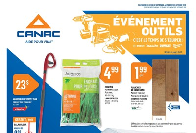 Canac Flyer September 26 to October 2