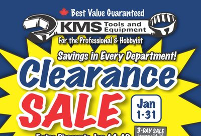 KMS Tools and Equipment Flyer January 1 to 31