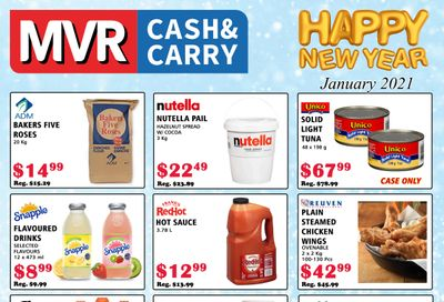 MVR Cash and Carry Flyer January 1 to 31