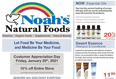 Noah's Natural Foods Flyer January 1 to 31