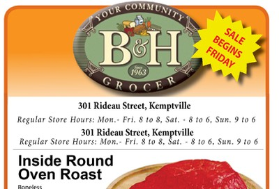B&H Your Community Grocer Flyer September 27 to October 3