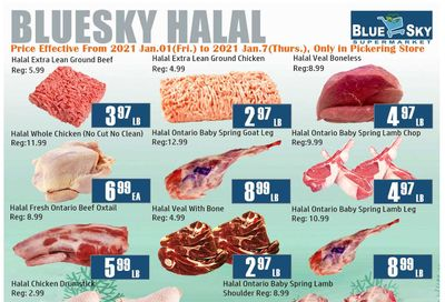 Blue Sky Supermarket (Pickering) Flyer January 1 to 7