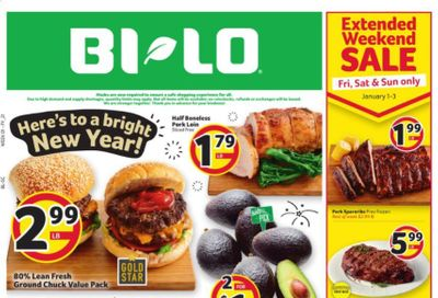 BI-LO Weekly Ad Flyer December 30 to January 5