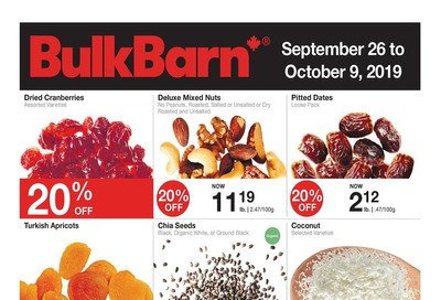 Bulk Barn Flyer September 26 to October 9