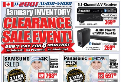 2001 Audio Video Flyer January 10 to 16