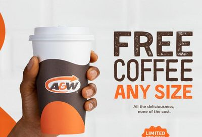 A&W Canada Promotion: FREE Any Size Coffee, January 4 to 17