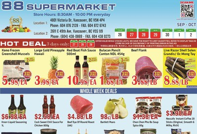 88 Supermarket Flyer September 26 to October 2