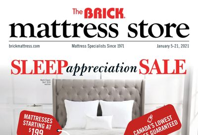 The Brick Mattress Store Flyer January 5 to 21