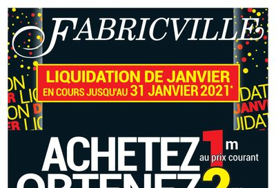 Fabricville Flyer January 6 to 31