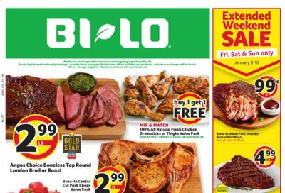 BI-LO Weekly Ad Flyer January 6 to January 12