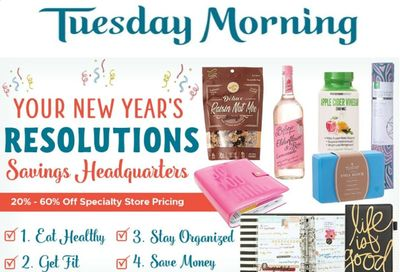 Tuesday Morning Weekly Ad Flyer January 5 to January 12