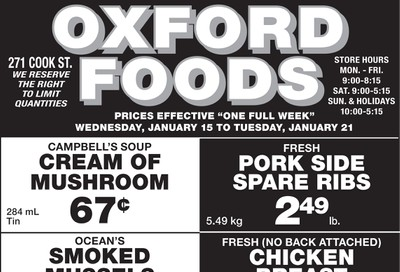 Oxford Foods Flyer January 15 to 21