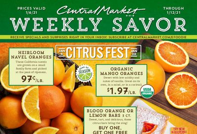 Central Market Weekly Ad Flyer January 6 to January 12, 2021
