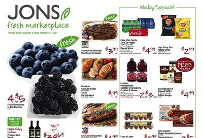 JONS Fresh Marketplace Weekly Ad Flyer January 6 to January 12, 2021
