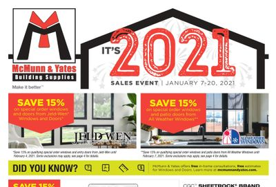 McMunn & Yates Building Supplies Flyer January 7 to 20