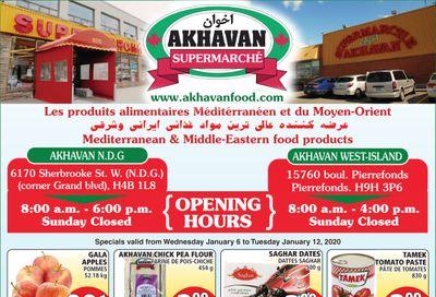 Akhavan Supermarche Flyer January 6 to 12