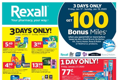 Rexall (West) Flyer January 17 to 23