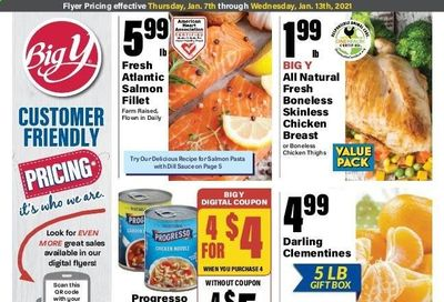 Big Y (MA) Weekly Ad Flyer January 7 to January 13
