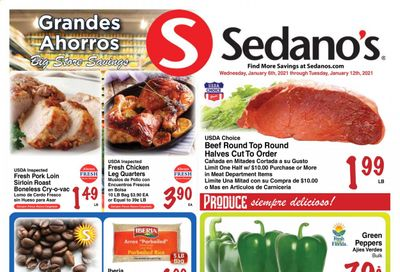 Sedano's (FL) Weekly Ad Flyer January 6 to January 12