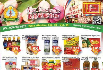 Ajax Foodmart Flyer September 27 to October 3