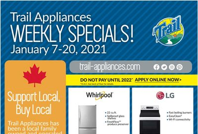 Trail Appliances (AB & SK) Flyer January 7 to 20
