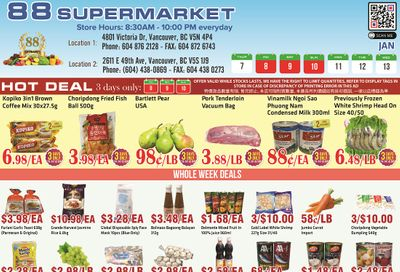 88 Supermarket Flyer January 7 to 13