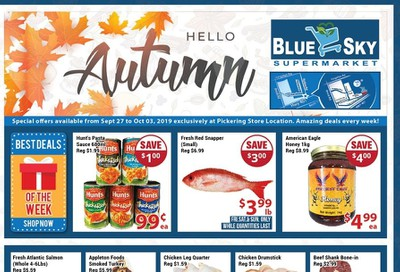 Blue Sky Supermarket (Pickering) Flyer September 27 to October 3