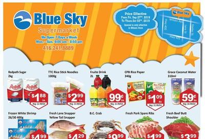 Blue Sky Supermarket (North York) Flyer September 27 to October 3
