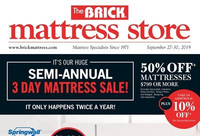 The Brick Mattress Store Flyer September 27 to 30