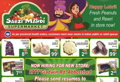 Sabzi Mandi Supermarket Flyer January 8 to 13