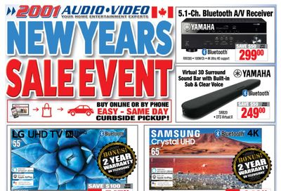 2001 Audio Video Flyer January 8 to 14