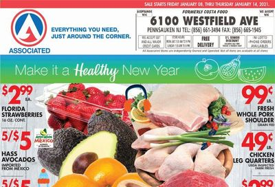 Associated Supermarkets Weekly Ad Flyer January 8 to January 14