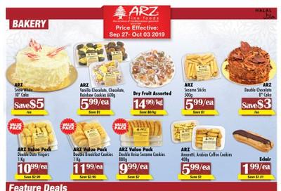 Arz Fine Foods Flyer September 27 to October 3