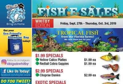 Big Al's (Whitby) Weekly Specials September 27 to October 3