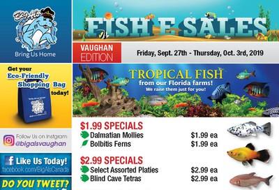 Big Al's (Vaughan) Weekly Specials September 27 to October 3