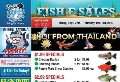 Big Al's (North York) Weekly Specials September 27 to October 3