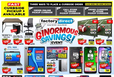 Factory Direct Flyer January 13 to 20