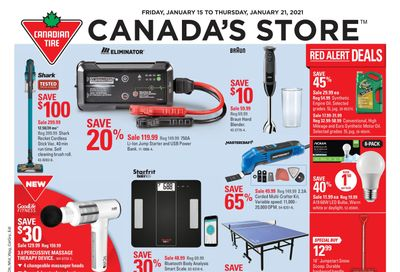 Canadian Tire (West) Flyer January 15 to 21