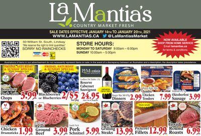 LaMantia's Flyer January 14 to 20