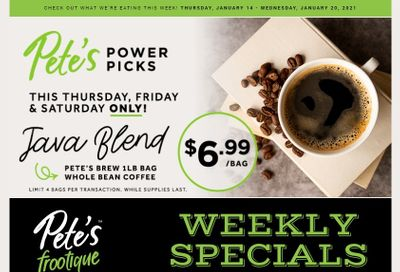 Pete's Fine Foods Flyer January 14 to 20