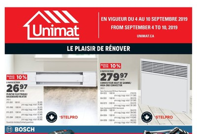 Unimat Flyer September 4 to 10