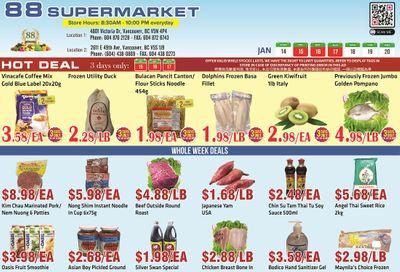 88 Supermarket Flyer January 14 to 20