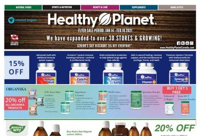 Healthy Planet Flyer January 14 to February 10