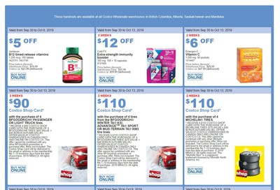 Costco (BC, AB, SK and MB) Weekly Savings September 30 to October 6