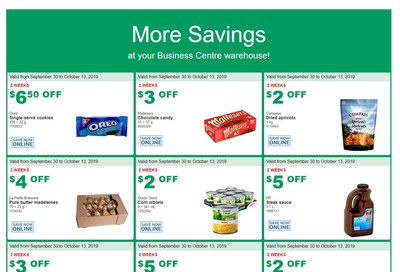 Costco Business Centre (Scarborough, ON) Instant Savings Flyer September 30 to October 13