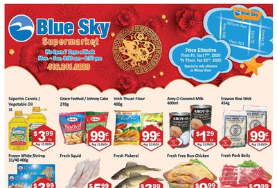 Blue Sky Supermarket (North York) Flyer January 17 to 23