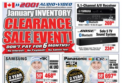 2001 Audio Video Flyer January 17 to 23
