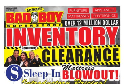 Lastman's Bad Boy Superstore Flyer January 16 to 29