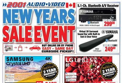 2001 Audio Video Flyer January 15 to 28